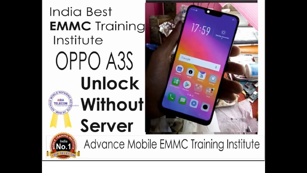 OPPO A3S Screen Unlock Without Online Server By Milan Sir: India Best EMMC  Training Institute `