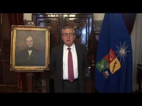Satya Vaarta - Chile ( Mr. Ennio Vivaldi, President of the University of Chile)