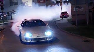 Tuner Cars Leaving a Car Meet - April 2018