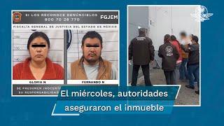 """Fernando """"N"""" de 35 años y Gloria """"N"""" de 29 años, además de golpear a su mascota lo habrían lesionado con un cuchillo"""