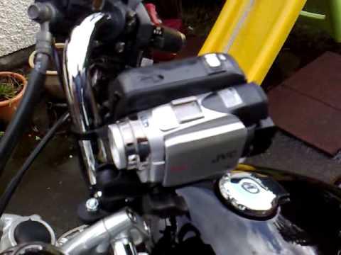 Mounting a JVC mini DV camcorder using RAM mount to Virago