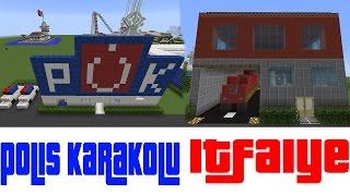 İtfaiye ve Karakol Yaptık !! - Minecraft Modern Evler