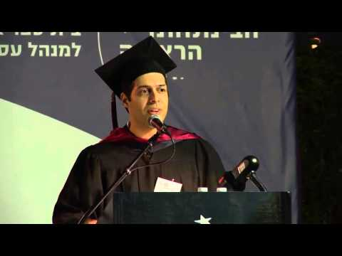 My GMBA graduation speech at IDC Herzliya (May 2014)