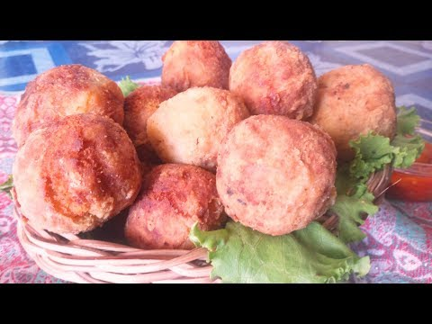 Spicy Yam Balls Recipe: How to make Stuffed Yam Balls (Onyx Food Hill)