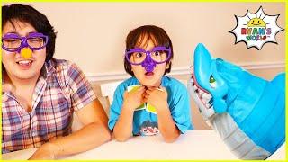 Ryan vs Daddy Shark Bite and 1 hr kids top Board games!!!