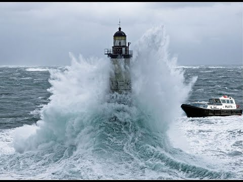 Boat Staff Exchange Lighthouse Storm