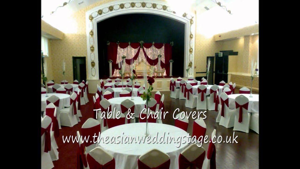 wedding chair covers burton on trent steel patio chairs asian stage youtube