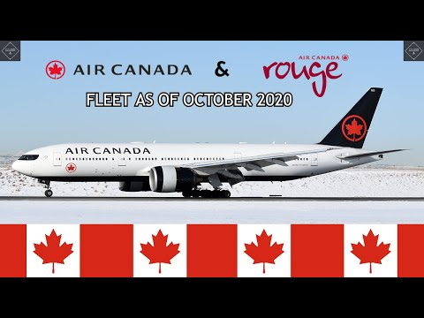 Air Canada & Air Canada Rouge Fleet As Of October 2020