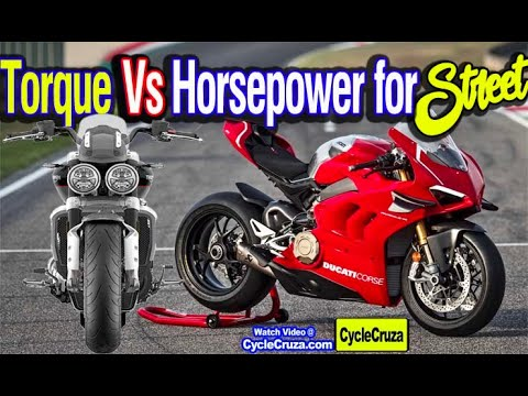 Horsepower Vs Torque - Which is Better for STREET Motorcycle?