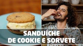 Sanduíche de Cookie com Sorvete