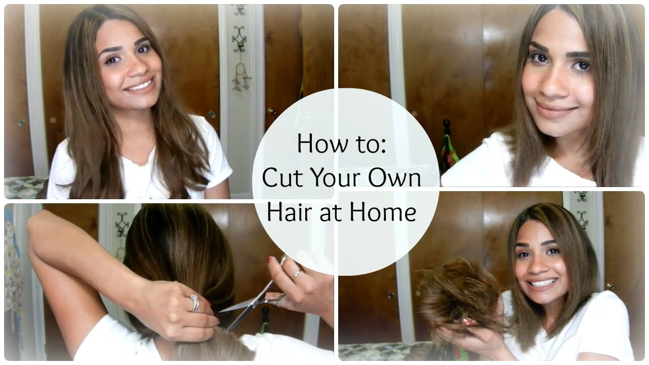 How To Cut Your Own Hair At Home ♥ A Line Bob ByBelle4u YouTube
