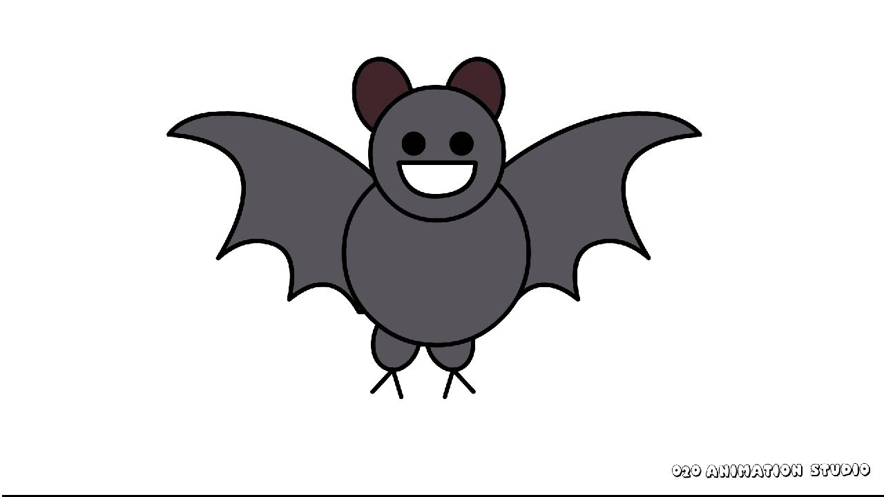 A Picture Of A Cartoon Bat how to draw a cartoon bat- easy drawing for kids - youtube