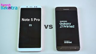 Samsung Galaxy J7 Prime 2 vs Redmi Note 5 Pro Speed and Camera Compare
