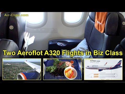 Aeroflot A320 Business Class XXL: 2 MAGIC flights to Rostov-on-Don! [AirClips full flight series]