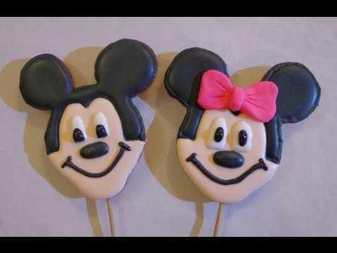 Galleta De Mickey Y Minnie Mouse