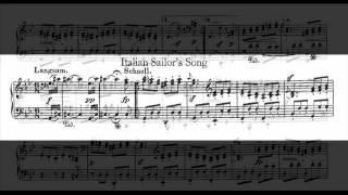 Jörg Demus plays Schumann Album für die Jugend Op.68 - 36. Lied italienischer Marinari