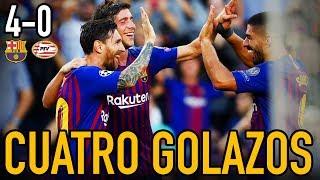 MESSI MARAVILLA Y BARÇA GOLEA | BARCELONA 4-0 PSV | DEMBÉLÉ VUELVE A MARCAR