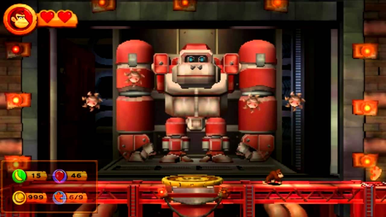 Donkey Kong Country Returns 3d 9 7 Robo Factory Youtube