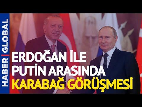 Cumhurbaşkanı Erdoğan İle Putin Arasında Karabağ Görüşmesi
