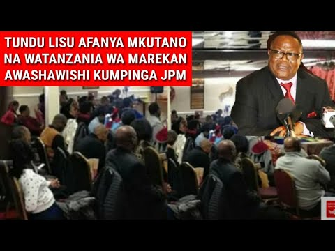 Breaking: Tundu Lissu Akutana Na Watanzania Wanaokaa Marekani Atema Sumú Kali Sana