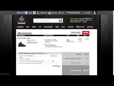 How to use a promo code at Footlocker