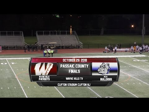 Wayne Hills vs PCTI Boys Soccer Passaic County Final 10/26/18