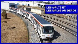 Métro de Lyon - Les MPL75 et MPL85 dans leurs ateliers