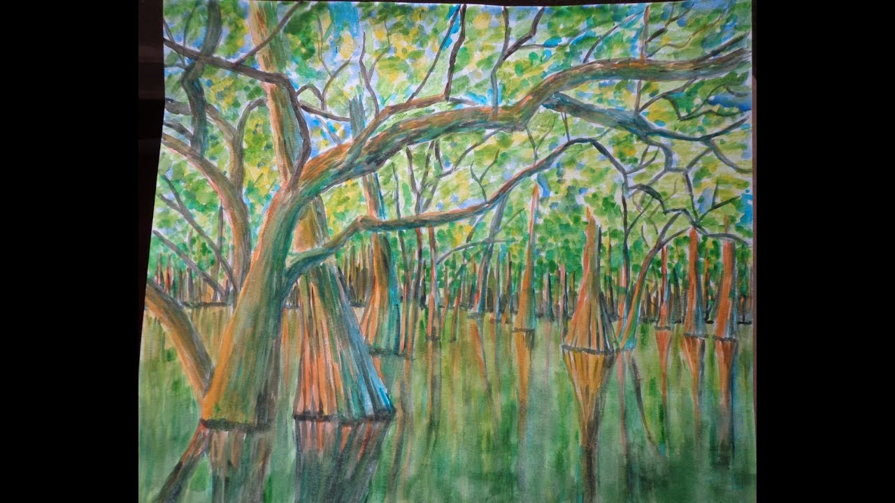 Cypress Tree Swamp Oil Paintings