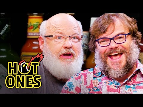 Tenacious D Gets Rocked By Spicy Wings | Hot Ones - YouTube