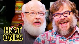 Download Tenacious D Gets Rocked By Spicy Wings | Hot Ones Mp3 and Videos