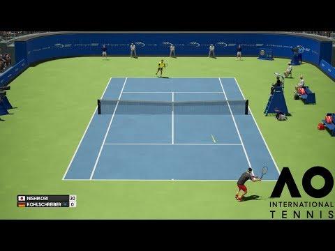Kei Nishikori vs Philipp Kohlschreiber - AO International Tennis - PS4 Gameplay