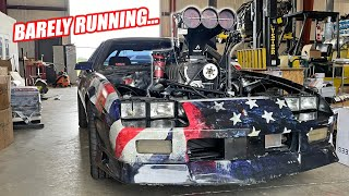 homepage tile video photo for TOAST IS ALIVE! First Fire Up Of His NEW Supercharged Australian Burnout Engine!!!