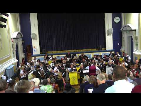 Craven Accordion Orchestra  FINAL COUNTDOWN  Joint Orchestra