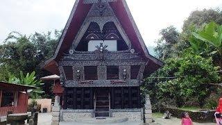 Museum Rumah Batak di Tomok, Pulau Samosir, Parapat