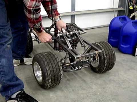 Home made GIANT SCALE rc car #7,  suspension testing, cantilevers