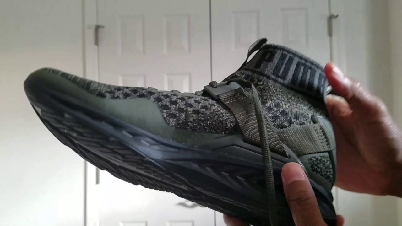 Vlog 61 Puma Ignite Evoknit Burnt Olive Forest Night Black ... 94946d49b