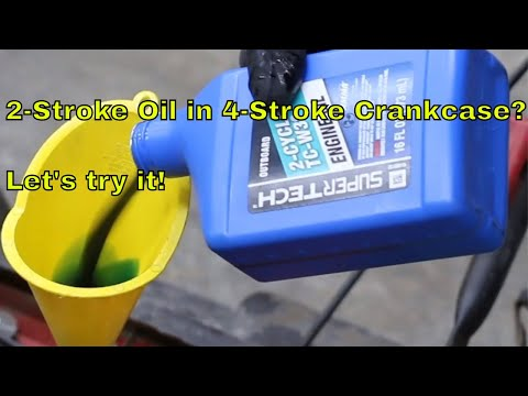 2-Stroke Oil in 4-Stroke Crankcase? Let's try it!