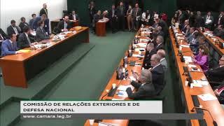 Eduardo Bolsonaro fala na CREDN em audiência com o MRE Ernesto Araújo (27/MAR/2019)