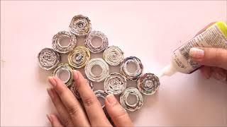 NewsPaper Craft Idea   DIY Newspaper Organization Basket   Best out of Waste