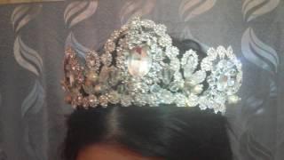 Серебряная свадебная корона, в моем исполнении
