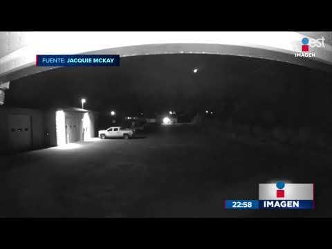 Cámara De Seguridad Captó La Caída De Un Meteorito En Canadá | Noticias Con Ciro Gómez Leyva