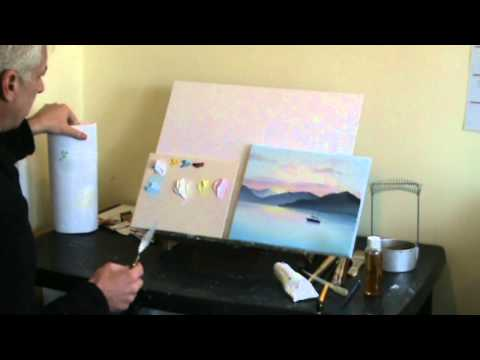 Live Online Art Classes Webinar - Oil Painting Sunset Pt1