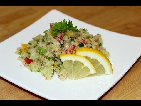 Bulgur-Salat mit Paprika, Tomaten und Petersilie