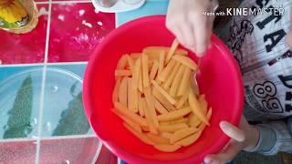 Готовим картошку фри в микроволновке👍👍👍👍