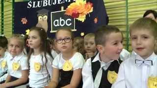 Pasowanie na ucznia w brzozowskiej podstawówce