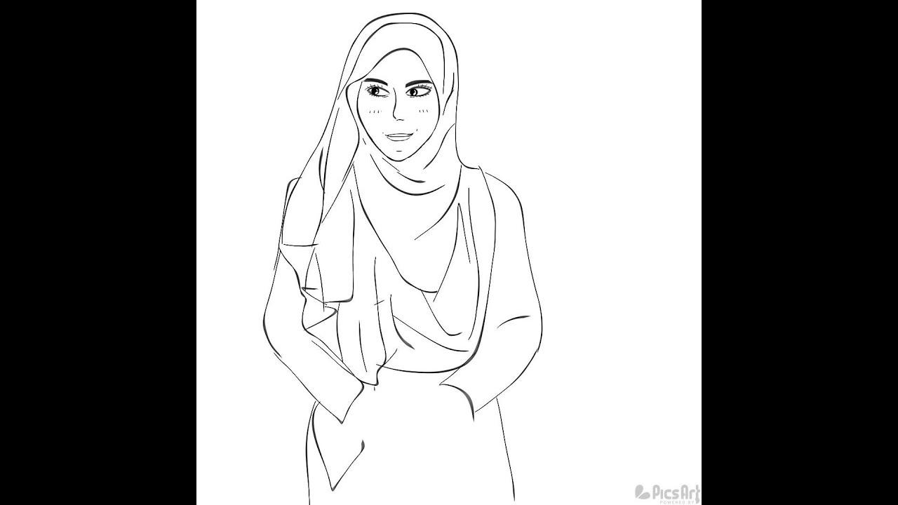 Sketsa Muslimah By Erl YouTube