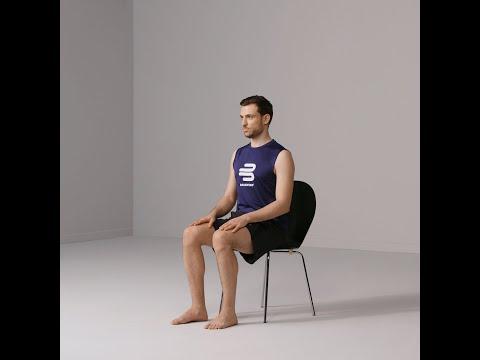 Gonarthrose �bungen leicht -  Rotation im Sitz