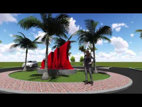 Spinnaker Sculpture at Coral Gables Circle