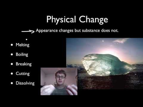 Physical And Chemical Changes Youtube