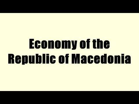 Economy of the Republic of Macedonia